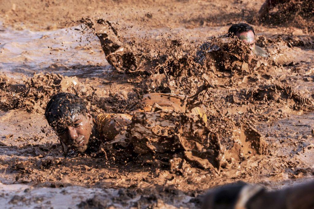 Mud Wrestling Fun in Budapest